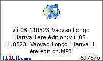 vii 08 110523 Vaovao Longo Hariva 1ère édition